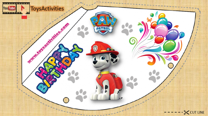 photo regarding Paw Patrol Printable Birthday titled PAW Patrol Social gathering Components, PAW Patrol Get together Hats, Paw Patrol